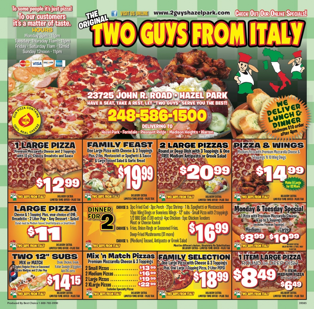 Take Out Menu Printing in Warren - Best Choice Marketing Solutions - gal8