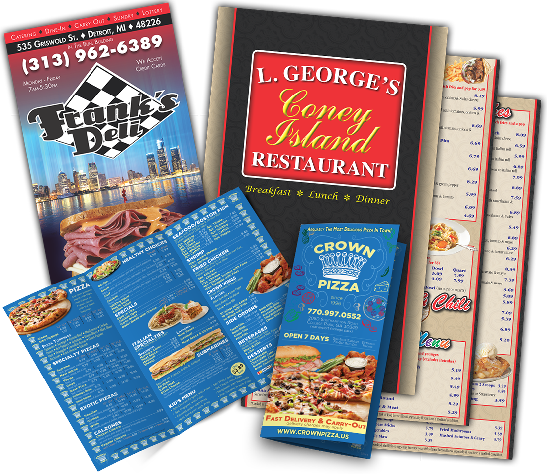 Rack Card Printing around Southfield MI - Best Choice Marketing Solutions - services-page-menus